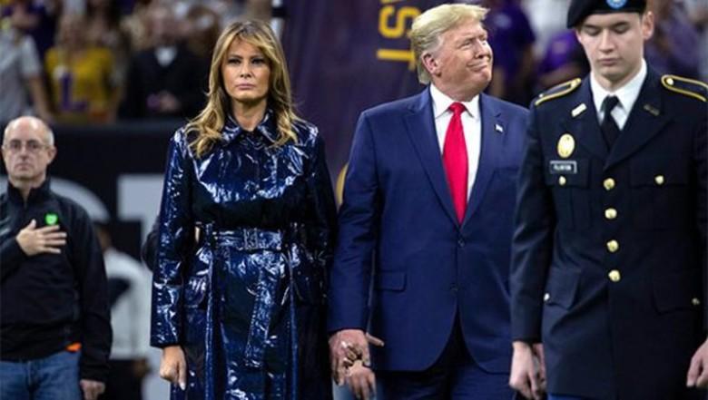 I tërheq dorën me forcë në eventin sportiv, videoja e Donald Trump me bashkëshorten Melania bëhet virale