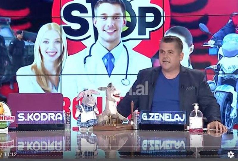 Gentian Zenelaj shfaqet i vetëm në studio dhe i surprizon të gjithë me lajmin: Saimir Kodra infektohet nga koronavirusi (VIDEO)