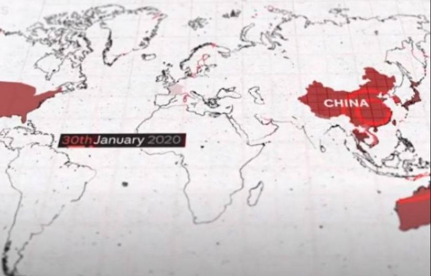 Belaja kineze në 11 minuta: Ja si u përhap COVID-19 në të gjithë botën (VIDEO)