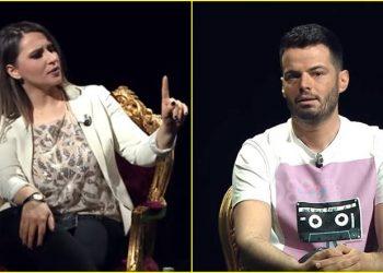 'Ta mora telefonin ta bëra copash', moderatori shqiptar 'nxehet' me kolegen: Më shiko në sy kur flas (VIDEO)