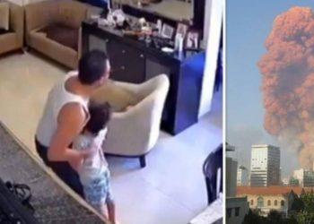 Pamje prekëse! Babi i trembur përpiqej të fshihte fëmijën poshtë tavolinës gjatë shpërthimit në Bejrut (VIDEO)