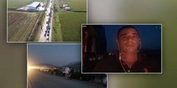 """Shqiptarët kalojnë me hapin e """"breshkës"""" drejt Greqisë, radha 20 km nuk ndryshon (VIDEO)"""
